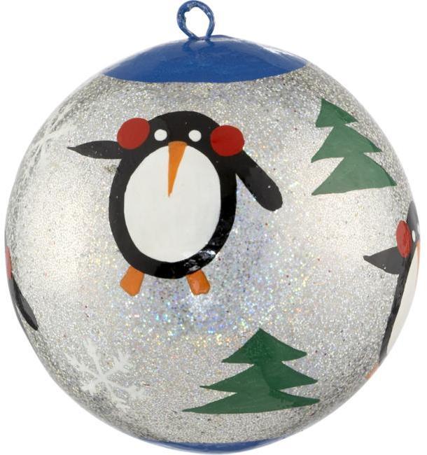 Papier Mâche Penguin Ornament