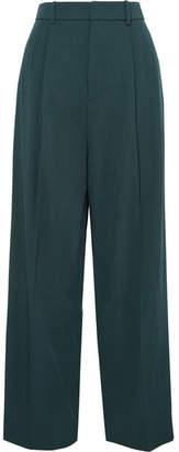 Joseph Riska Wool-gabardine Wide-leg Pants - Green