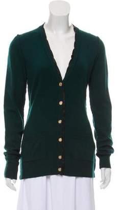 Dolce & Gabbana Silk-Trimmed Cashmere Cardigan