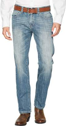Rock and Roll Cowboy Revolver Slim Denim with Stitches in Light Vintage M1R6617 Men's Jeans