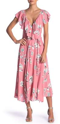 Yumi Kim Bouquet Floral Ruffle Wrap Dress