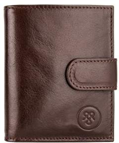 Maxwell Scott Bags Top Quality Brown Small Leather Wallet For Men