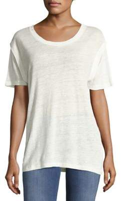 IRO Drop-Shoulder Linen Top