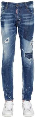 DSQUARED2 17cm City Biker Shadow Wash Denim Jeans