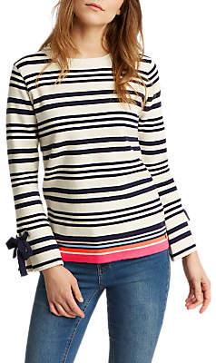 Joules Myanna Tie Sleeve Jumper, Bircham Stripe