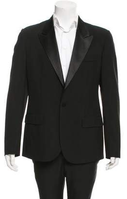 Maison Margiela Wool Satin-Trimmed Blazer w/ Tags