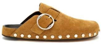 Isabel Marant Mirvin Suede Clogs - Womens - Tan