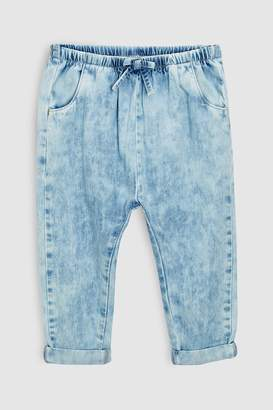 Next Girls Light Blue Pull-On Denim Trousers (3mths-6yrs)