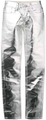 MM6 MAISON MARGIELA metallic slim-fit trousers