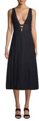 Valentino Plunging Wool Dress