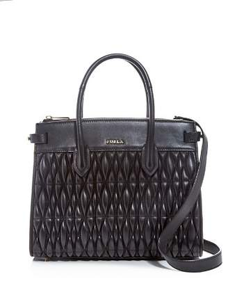 Furla Pin Small Quilted Leather Tote