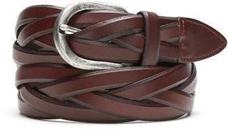 Banana Republic Wide Braided Leather Belt