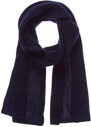 Portolano Men's Uniform Navy Cashmere Scarf