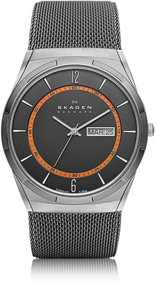Skagen Melbye Gray & Orange Titanium Men's Watch
