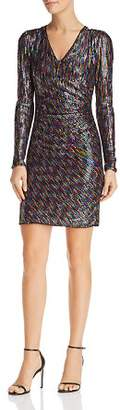 BCBGMAXAZRIA Rainbow Sequin Dress