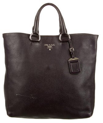 prada Prada Vitello Daino Shopper Tote