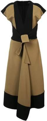 Proenza Schouler Cap Sleeve V-Neck Dress
