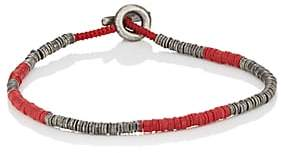 M. Cohen Men's Rondelle Bracelet - Red