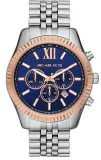 d8a70aed899e Michael Kors Lexington Stainless Steel Bracelet Chronograph Watch