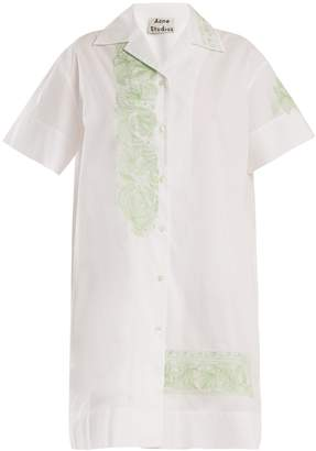 Acne Studios Jusso floral-embroidered cotton dress