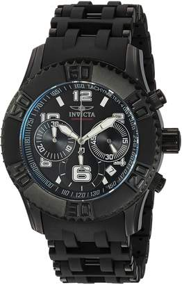 Invicta Men's 'Sea Spider' Quartz Stainless Steel and Polyurethane Casual Watch, Color: (Model: 22454)