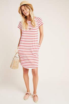 Maeve Rochelle Striped T-Shirt Dress