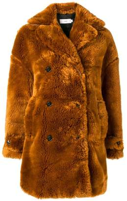 Closed faux fur coat
