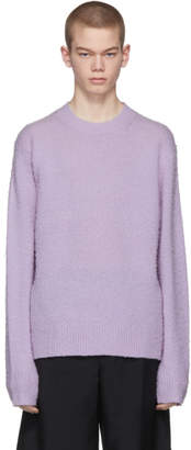 Acne Studios Purple Peele Crewneck Sweater