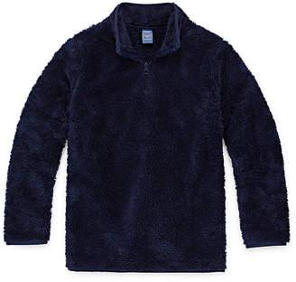 Arizona Sherpa Long Sleeve Pullover Sweater Boys 4-20