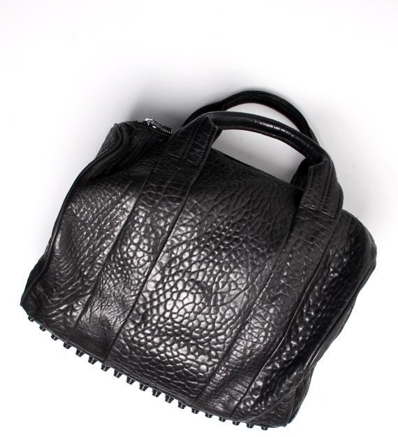 Alexander Wang Black Rocco Mini Duffle With Black Studs