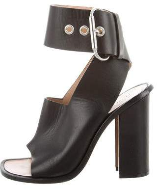 Celine Leather Ankle Strap Sandals