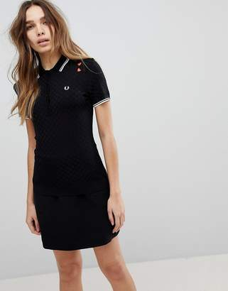 Fred Perry Amy Winehouse Foundation Knit Polo with Heart Embroidery