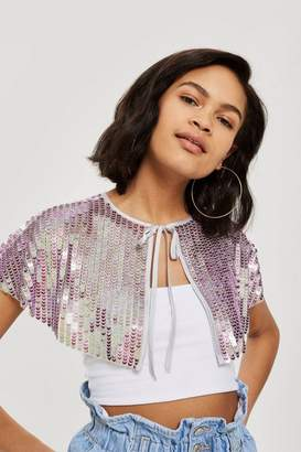 Topshop Festival Sequin Shoulder Cape