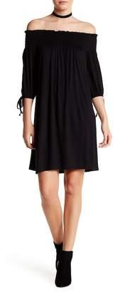 Dee Elly Smock 3/4 Length Sleeve Off-the-Shoulder Dress