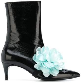 Leandra Medine Flower ankle boots