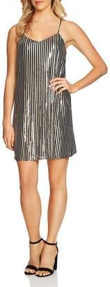 Cynthia Steffe CeCe by Mia Striped Sequin Dress
