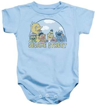 Sesame Street Classic TV Show Popular Puppet Cast Infant Romper Snapsuit