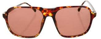 Dries Van Noten Linda Farrow x Tinted Square Sunglasses