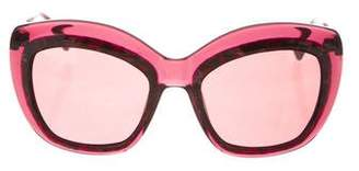Zac Posen Yasmine Oversize Sunglasses