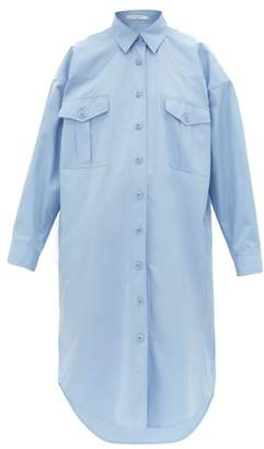 Givenchy Oversized Cotton Poplin Shirtdress - Womens - Light Blue