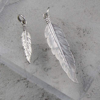Black Pearl Feather Pendant