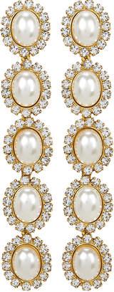 Elizabeth Cole Von Drop Pearl Earrings