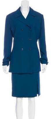 Halston Structured Skirt Suit