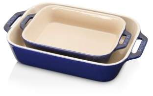 Staub Ceramic Rectangular Baking Dish 2-Piece Set