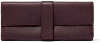 Smythson Grosvenor Textured-leather Jewelry Case - Burgundy