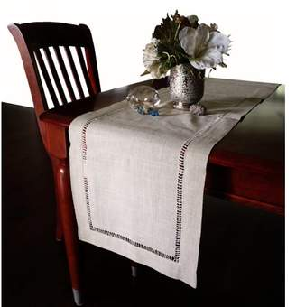 """Nice & Great Beautiful Hemstitched Table Runner Quality Large Dinning Tablecloth Premium Rectangular 18"""" x 108"""" Long Home Holiday Tablecover Cloth Natural"""