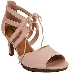 Clarks Leather High Heel Sandals -Adriel Elaina