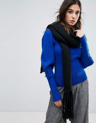 Urban Code Urbancode Oversized Knitted Scarf With Tassel Fringing