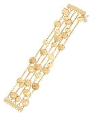 Robert Lee Morris Collection Golden Target Multi-Row Disc Magnetic Bracelet