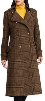 Lauren Ralph Lauren Gun Check-Patterned Coat